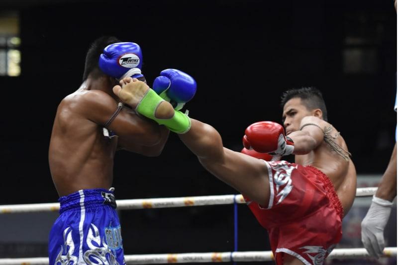 Match de boxe en Thaïlande
