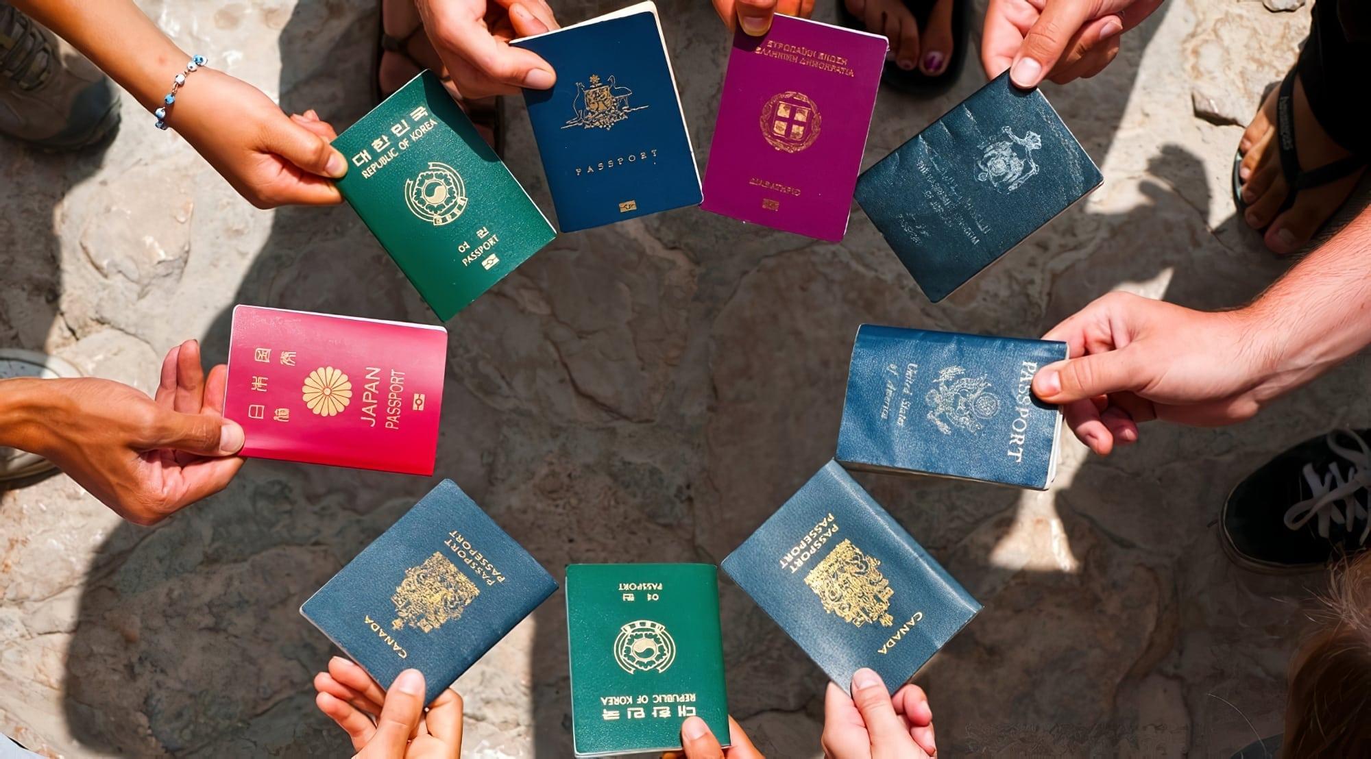 Couleurs de passeports
