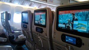 Ecrans dans les avions