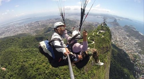 Réservation d'un tour de parapente au-dessus de Rio de Janeiro
