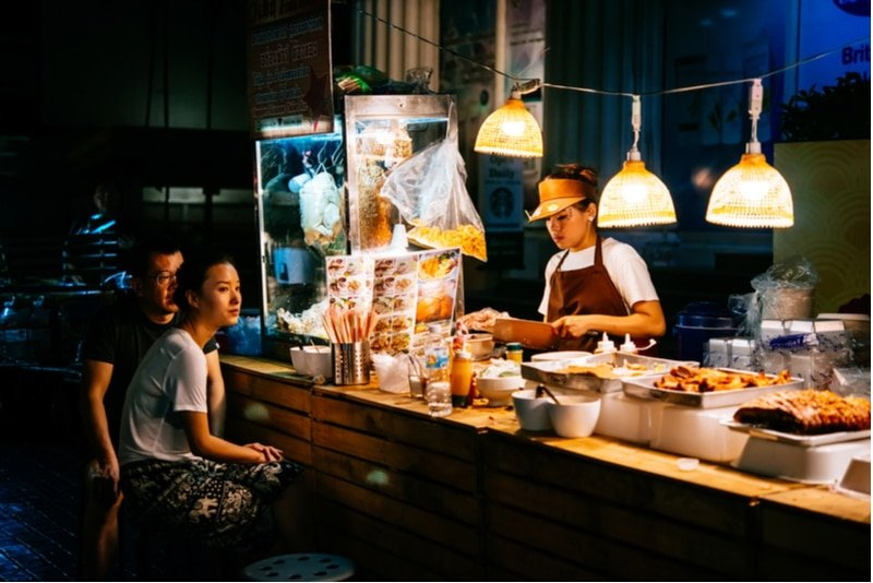 Stand de street food à Bangkok