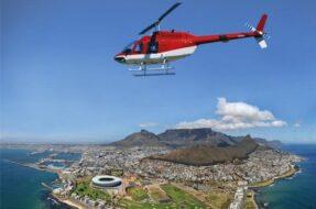 Survol en hélicoptère du Cap
