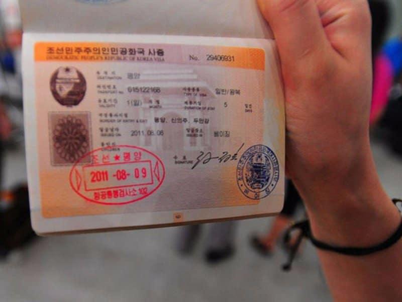Tampon de passeport de la Corée du Nord