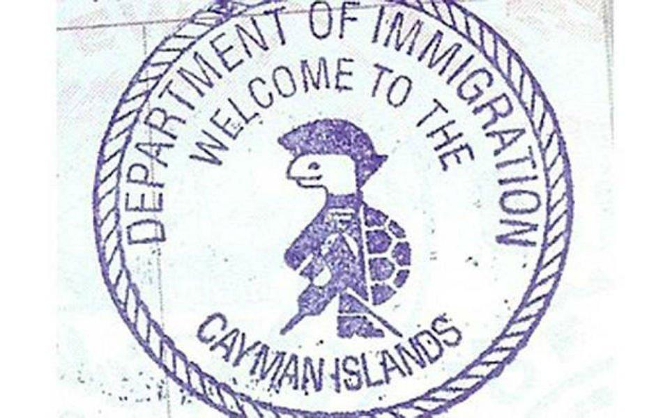 Tampon de passeport des îles Caïmans