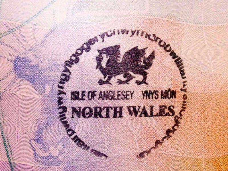 Tampon de passeport de Llanfairpwllgwyngyllgogerychwyrndrobwllllantysiliogogogoch