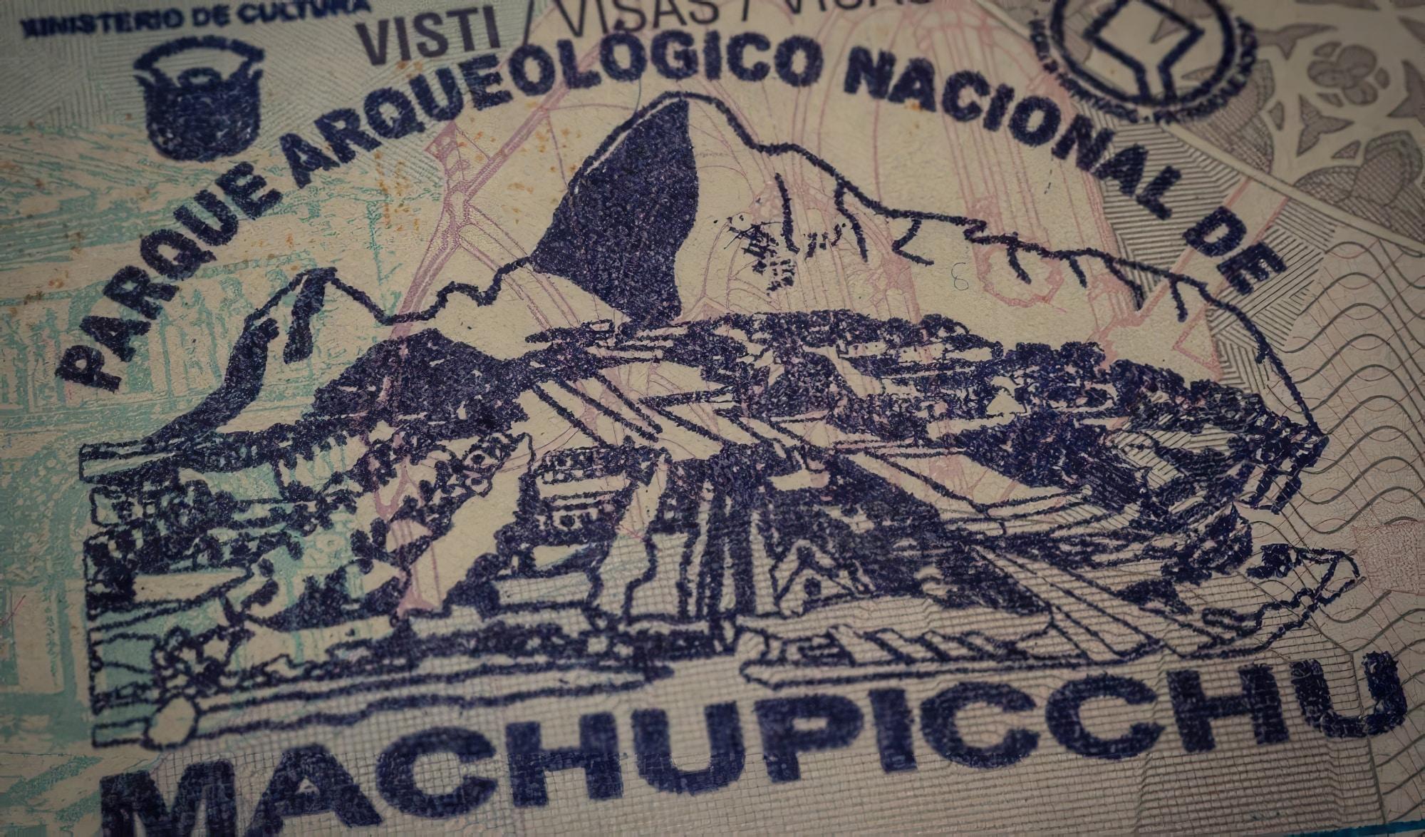 Tampon de passeport du Machu Picchu