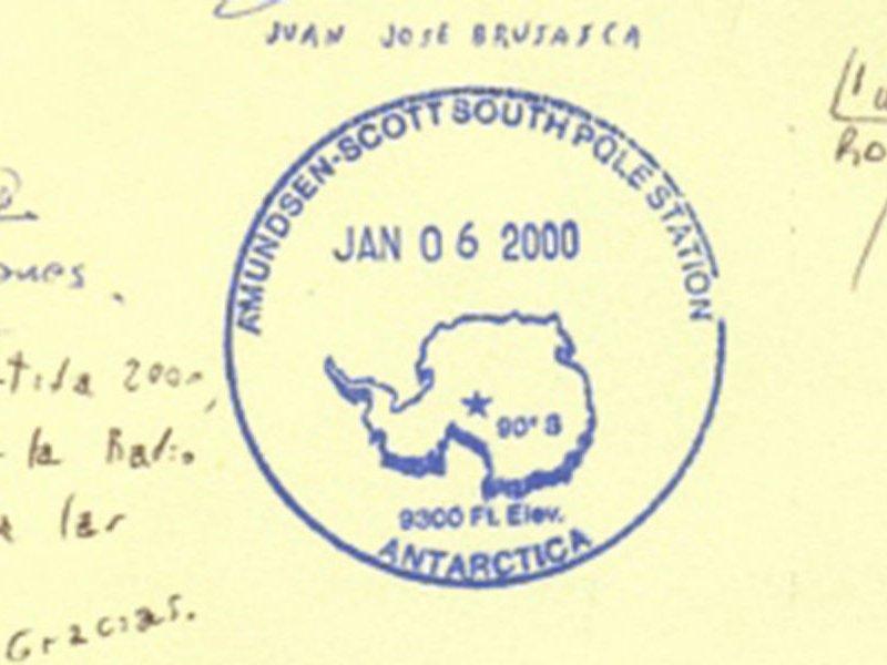 Tampon de passeport du Pôle Sud