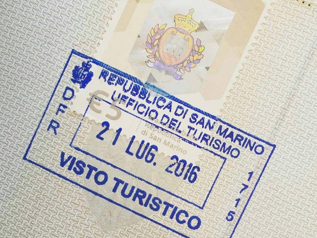Tampon de passeport de Saint-Marin