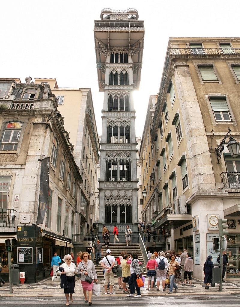 Ascenseur de Santa Justa, Lisbonne