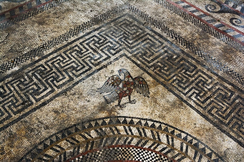 Fouille Inrap Uzes 2017, mosaïques romaines