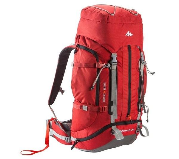 Sac à dos voyage, Quechua Forclaz Easyfit 60 rouge