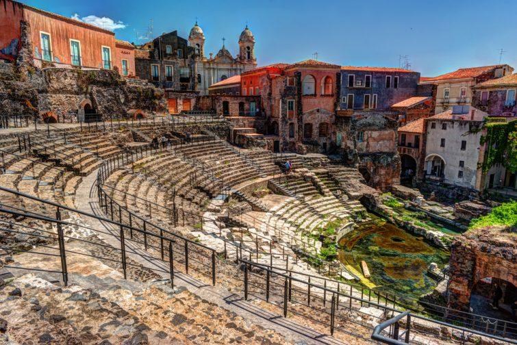 Théâtre romain de Catane