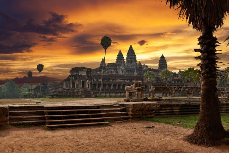 Angkor Vat au coucher du soleil