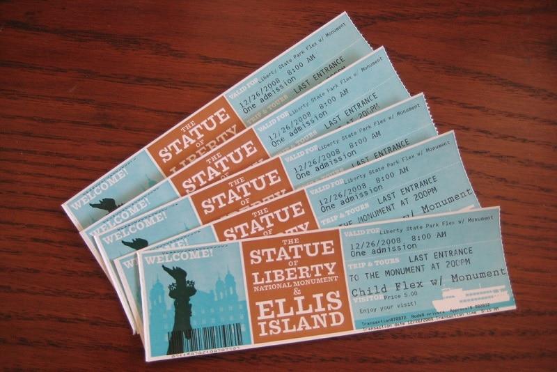 Billets pour la Statue de la Liberté, Ellis Island