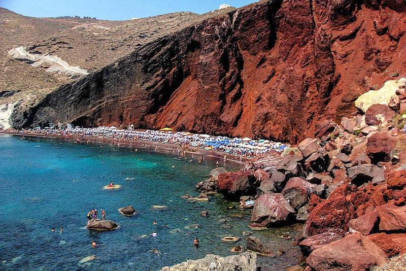 Plage Rouge de Santorin