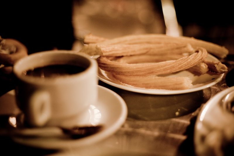 Churros, Chocolateria San Gines, Madrid.