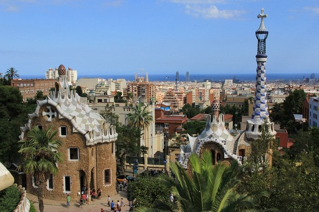 Gaudi, Parc Guell, Barcelone