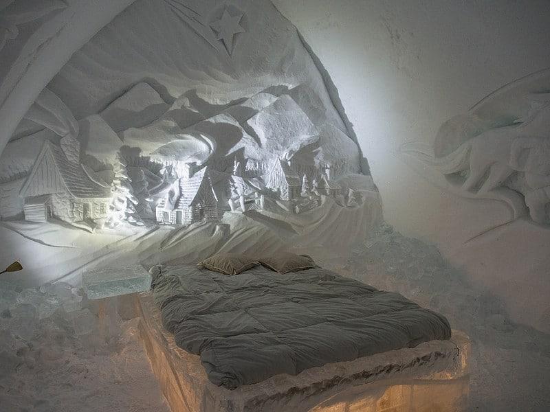 Hôtel de glace, Canada en hiver