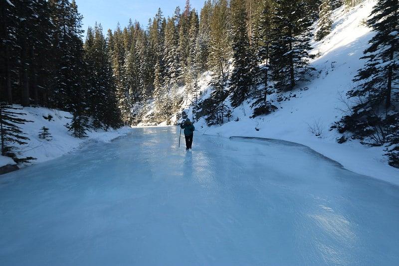Randonnée sur glace, Canada en hiver