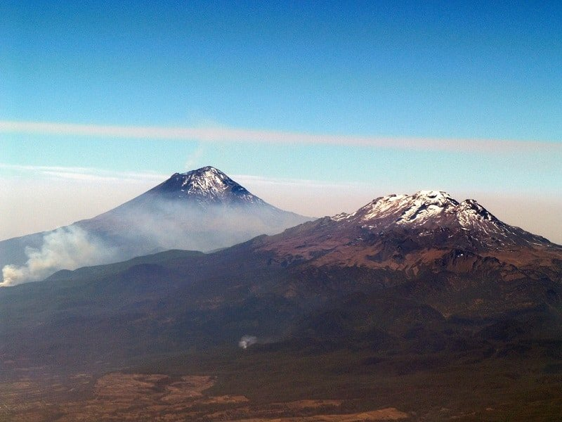 volcans Popocatépetl et Iztaccíhuatl, Puebla