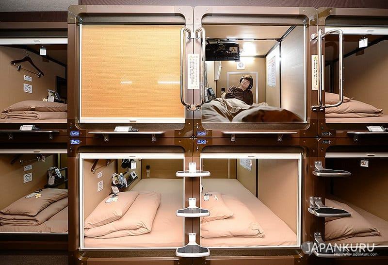 Capsule-hôtel pour loger à Tokyo