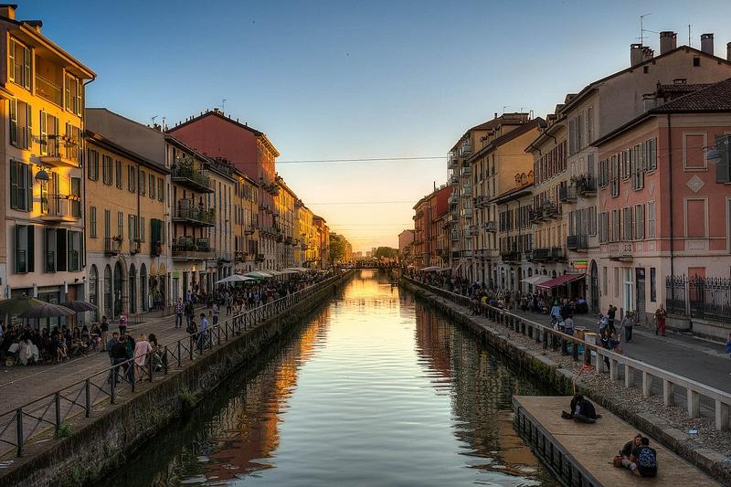 Quartier Navigli pour loger à Milan
