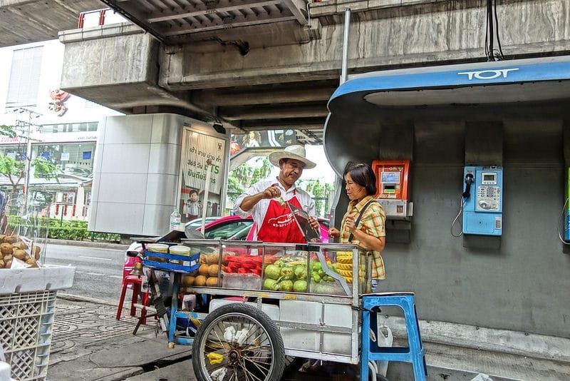 Victory Monument, street food, Bangkok