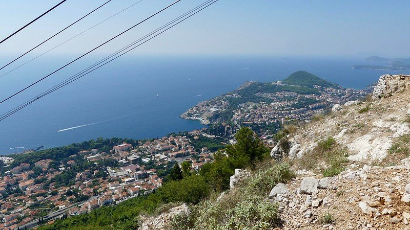 Croatie, Dubrovnik, Faubourgs de Lapad et de Babin Kuk, à l'oues