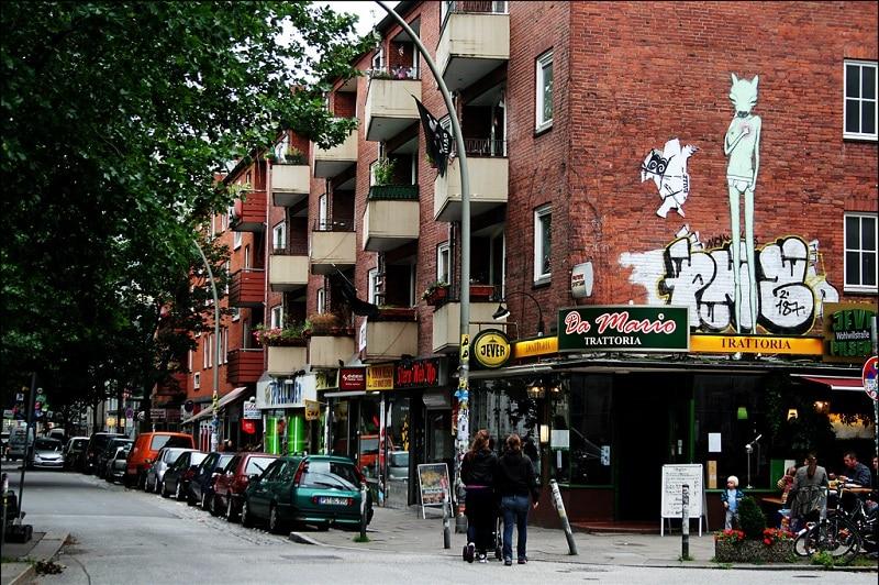 St Pauli, loger à Hambourg