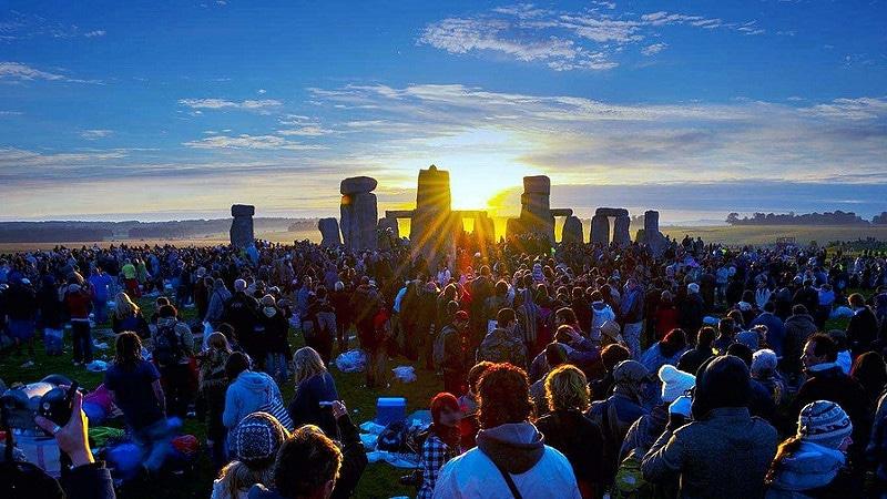 Stonehenge lors du solstice d'été