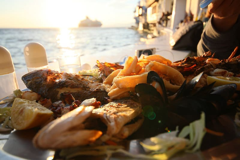 Nourriture locale, Mykonos