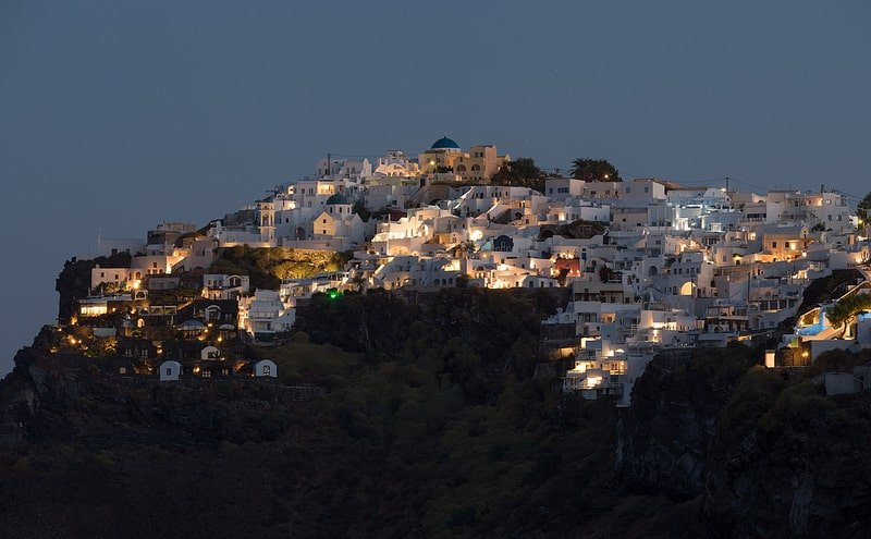 Imerovigli, loger à Santorin