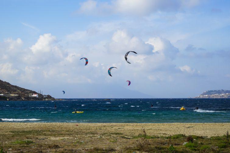 Kitesurf visiter Mykonos