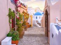 Oia se loger à Santorin