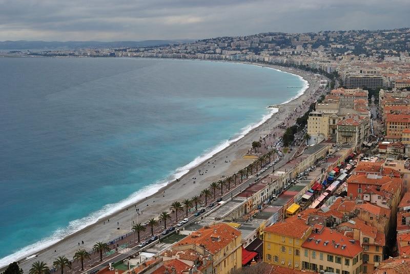 Promenade des Anglais, loger à Nice