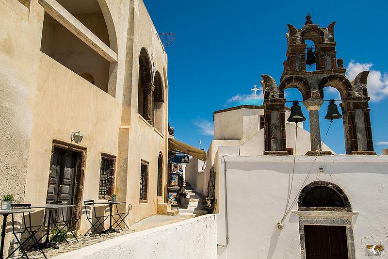 Pyrgos, loger à Santorin