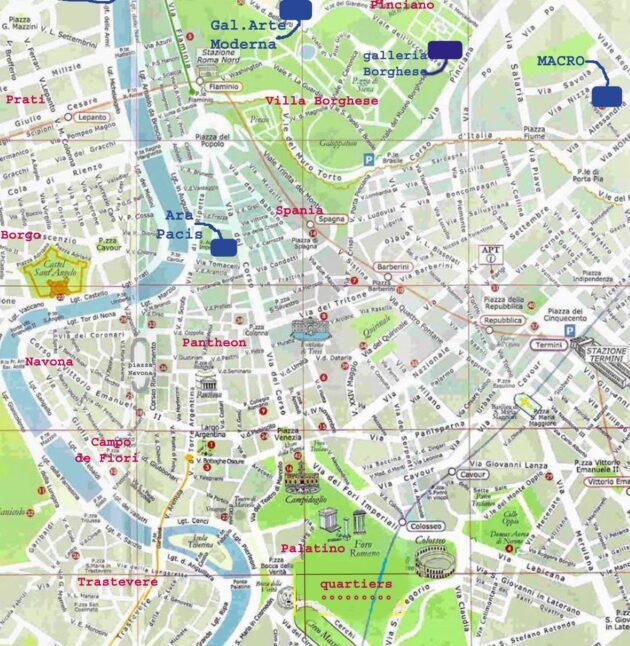 Carte & plan Rome centre historique
