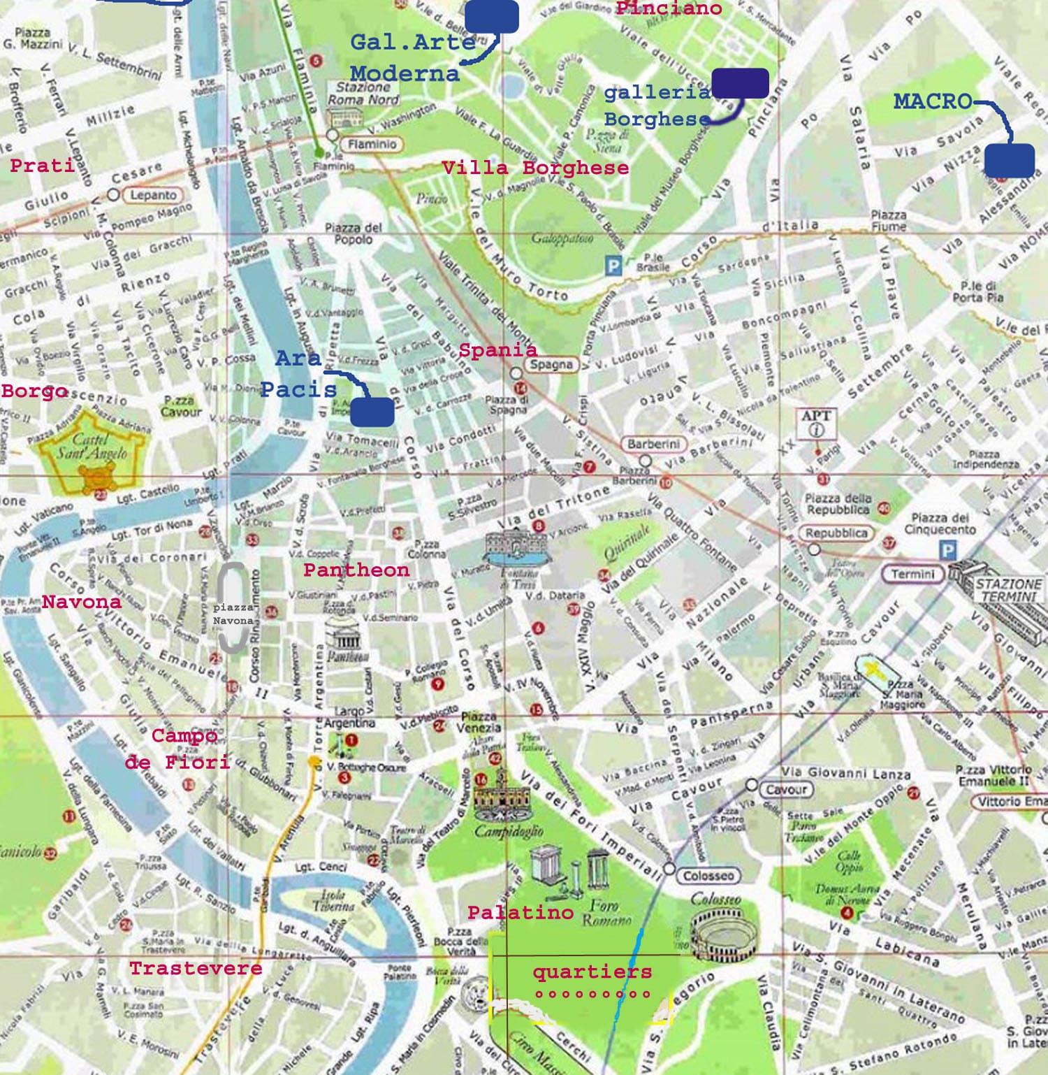 Cartina Roma Ciampino.Mappe E Percorsi Dettagliati Di Roma