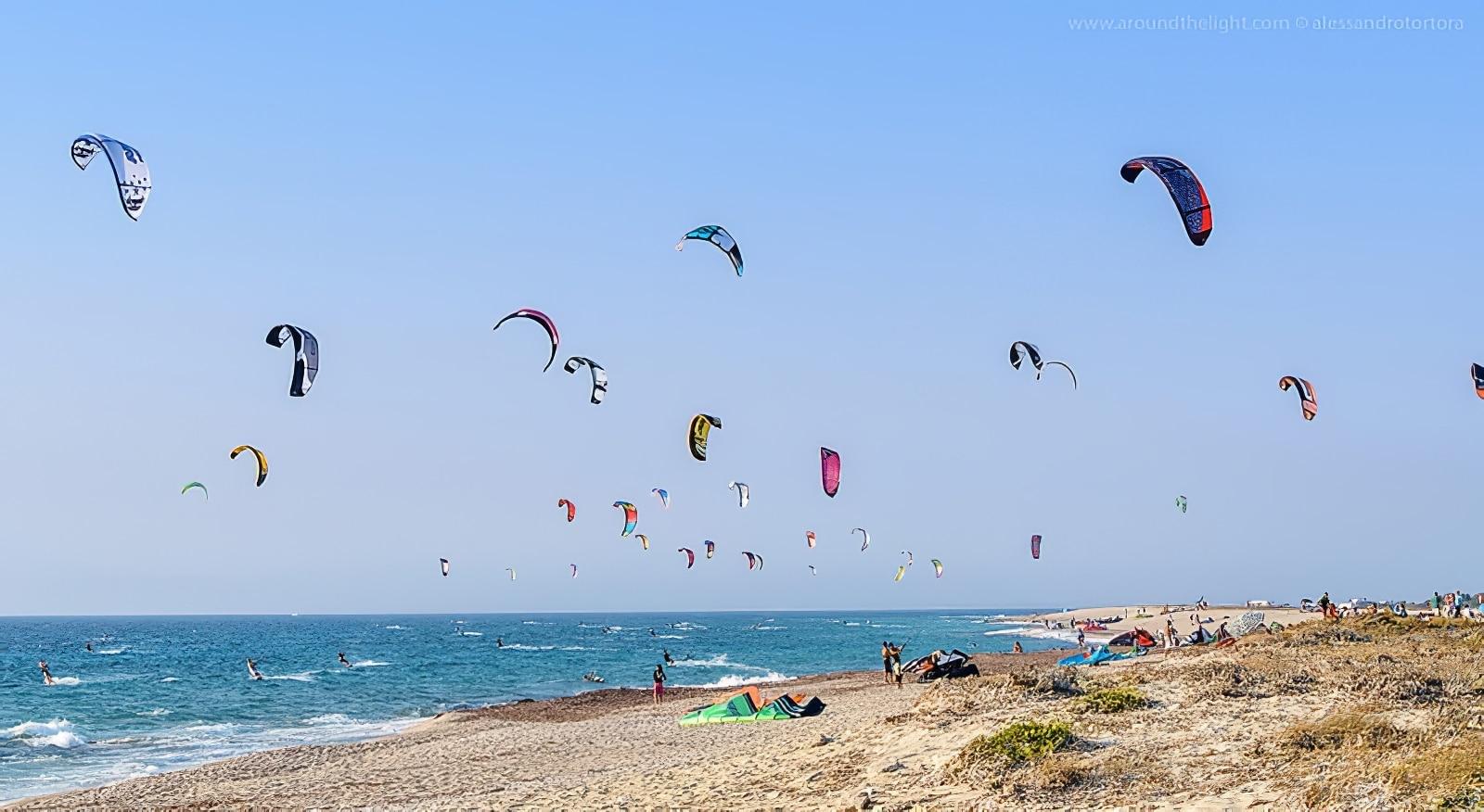 Kitesurf à Lefkada, en Grèce
