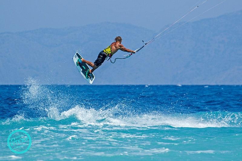 Kitesurf à Rhodes, en Grèce