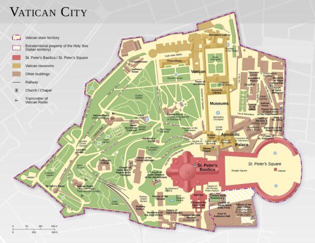 Carte & plan du Vatican à Rome