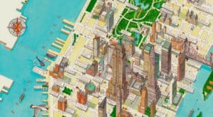Carte détaillée de Manhattan à New York