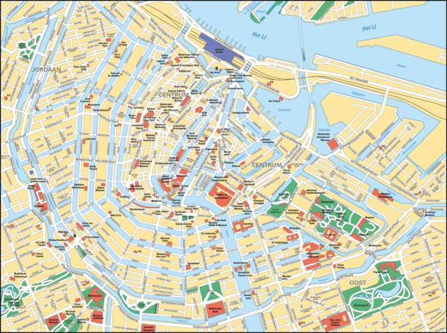 Cartes et plans détaillés d'Amsterdam