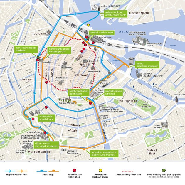 Plan Croisière Canaux D'Amsterdam