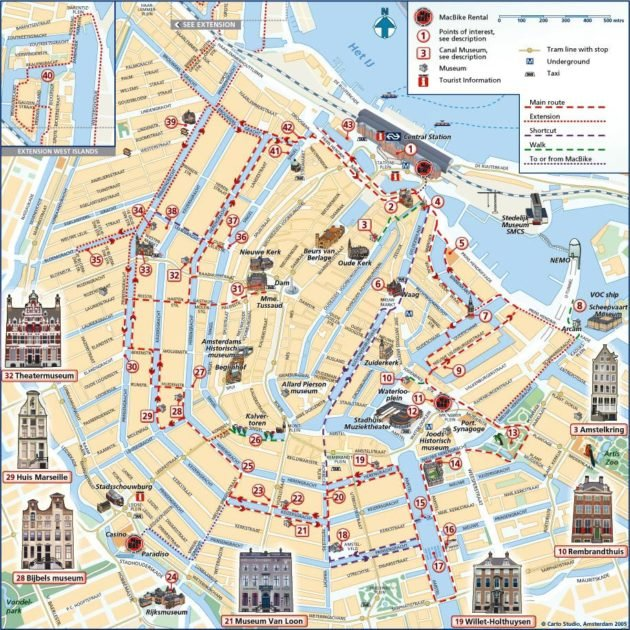 Plan Et Carte Monuments Amsterdam