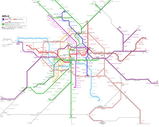 Carte et Plan du Métro de Berlin