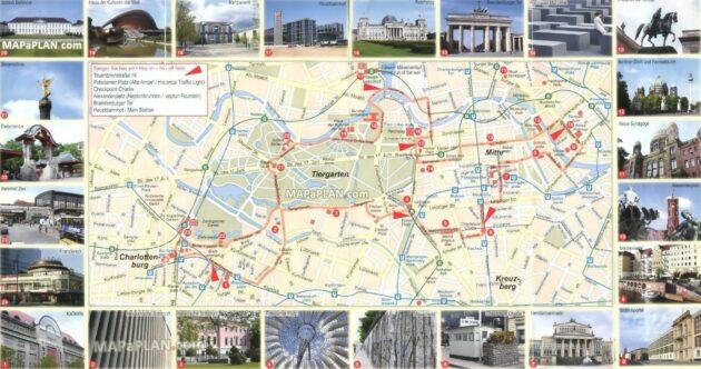 Carte Et Plan Des Monuments De Berlin