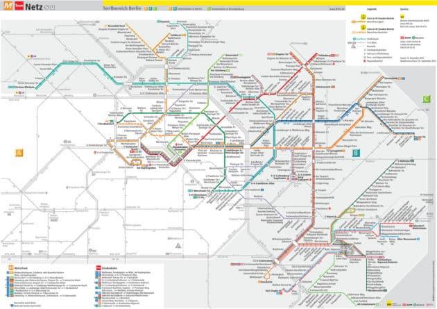 Carte et Plan des Transports de Berlin