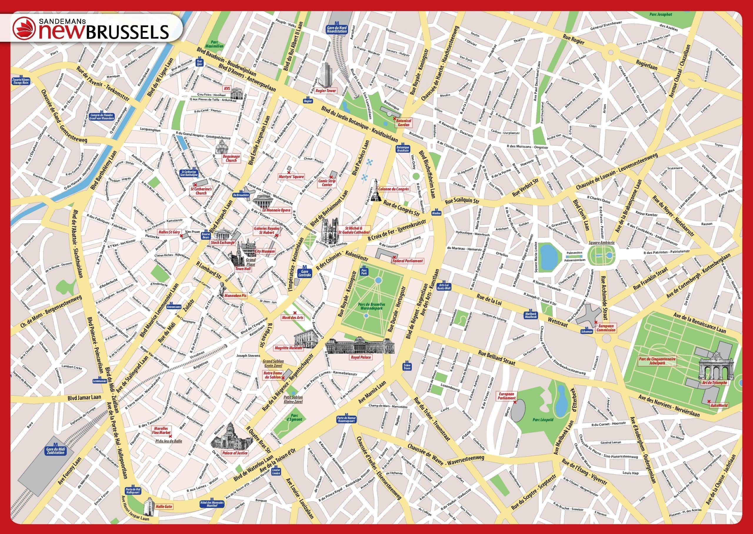 Cartes Et Plans Detailles De Bruxelles