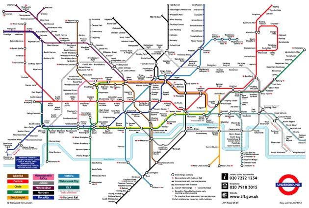 Carte et Plan du Metro de Londres